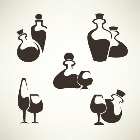 collection of drink symbols Stock Vector - 17461670
