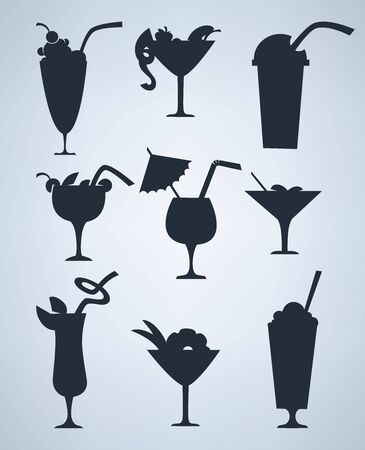 vector collection of silhouettes, signs and symbols Vector