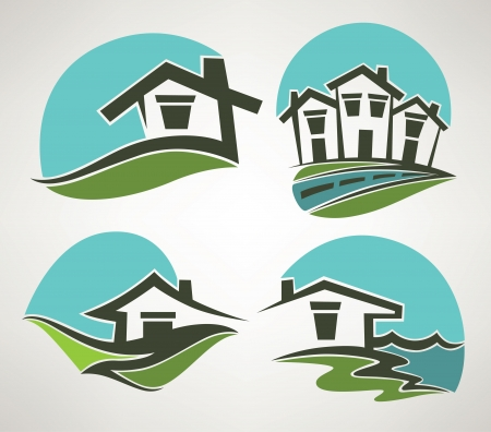 rooftop: vector collection of home symbols