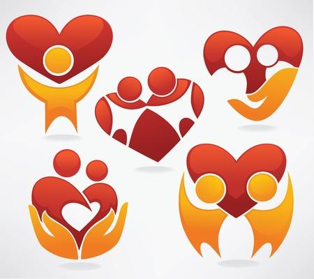 collection de vecteur de symboles et embl�mes belles Illustration