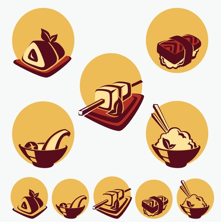 vector collection of food signs and symbols Vector