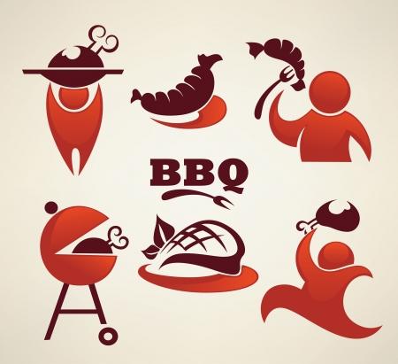 steak plate: VECTR conjunto de signos e iconos