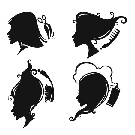 silhouette collezione Vettoriali