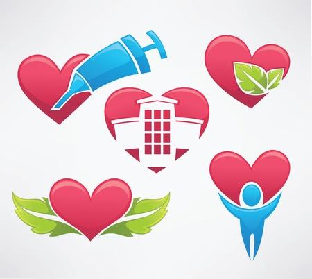 health symbols vector collection Vector