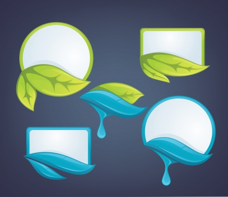 wetness: ecological, stickers and labels Illustration