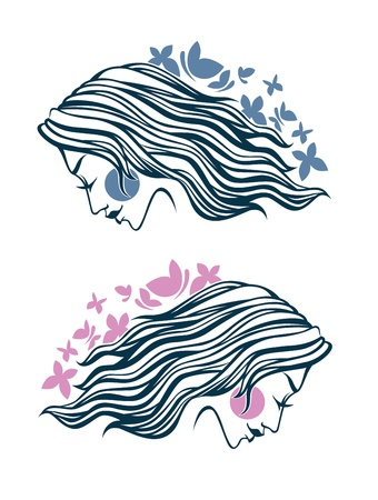 sexy image: illustration of woman faces