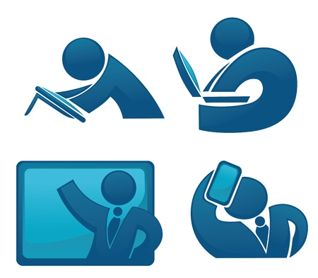 abstract office people collection Vector