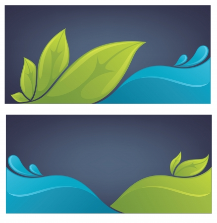 collection of nature background Stock Illustratie