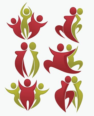 diet symbols collection Stock Illustratie