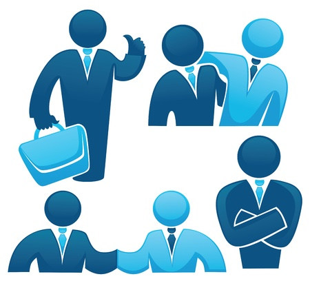 suit case: symbols of modern business people