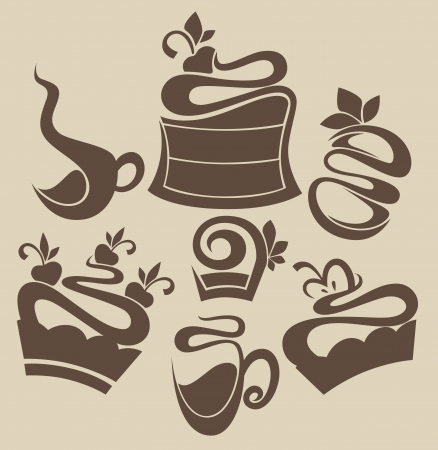 vector food silhouettes Illustration