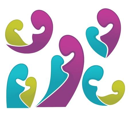 maternity: bright colletion of maternity symbols