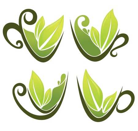 orgnic tea collection Vector