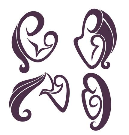 emblemas de la familia Ilustración de vector