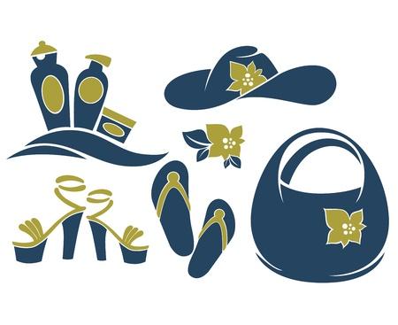 beach bag: summer silouettes Illustration