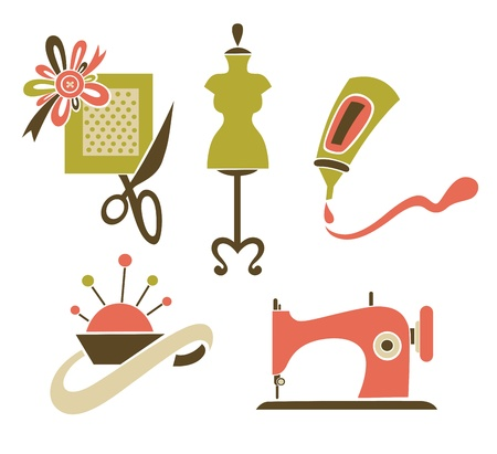 sewing: symbols and icons Illustration