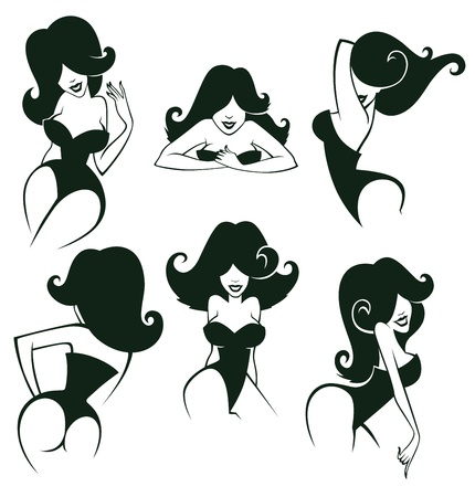 pin up: cartoon girls images