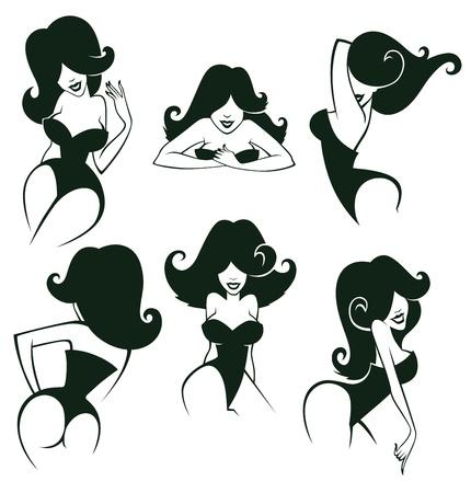 vrouw ondergoed: cartoon meisjes beelden