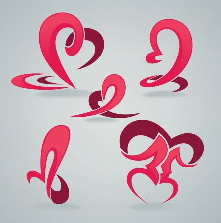 lips kiss: vector collection of abstract symbols Illustration