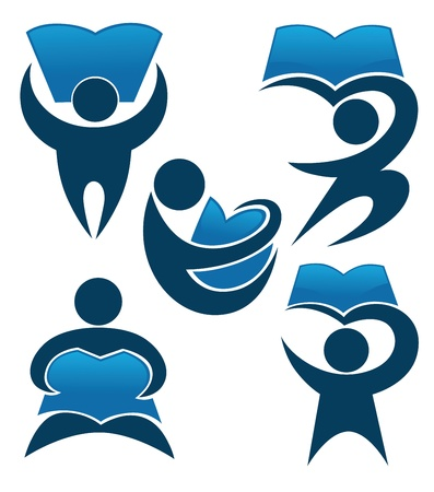 collection of educational symbols Stock Illustratie