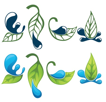 vector collection of nature symbols Vector