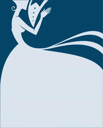vőlegény: esküvői üdvözlőlap Illusztráció