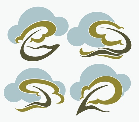 vector collection of nature and ecolody emblems and icons Vector