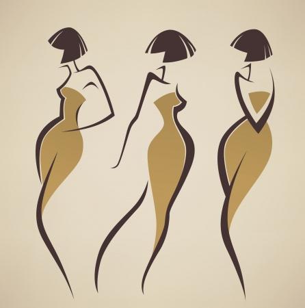 images de fille stylis�s