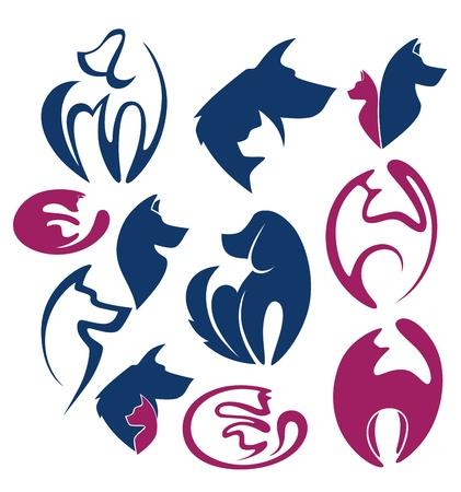 veterinarian symbol: raccolta vettore di simboli e Icoms