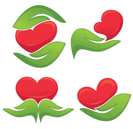 love and nature icons Stock Vector - 20921709