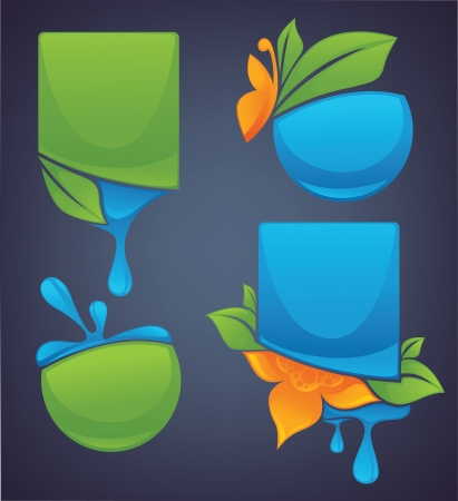 vector frames and sticker collection Vector