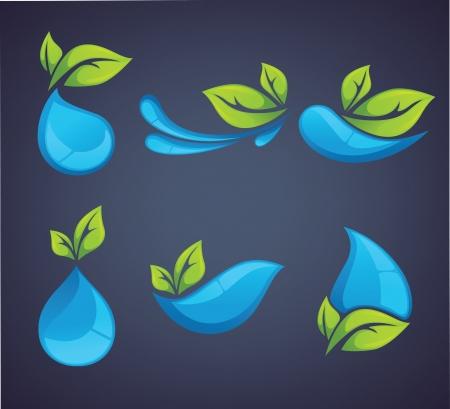 wet leaf: ecological symbols