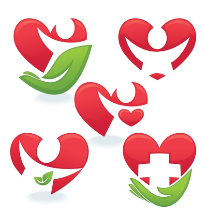 cure: love and health concepts