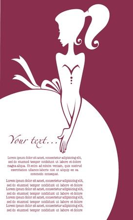 pink dress: vector glamour background Illustration