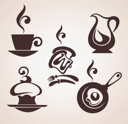 vector collection of food icons Ilustrace