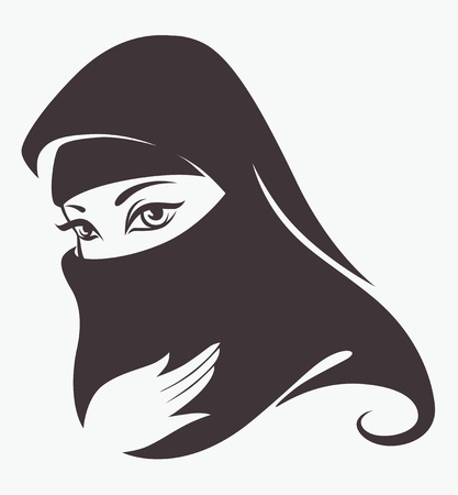 vector image of woman face
