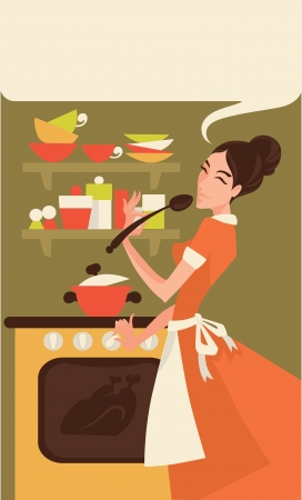 vector illustration with woman image Vector