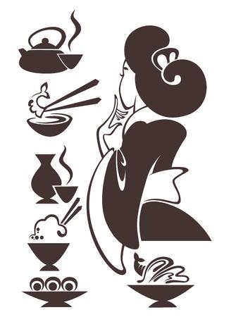 images de nourriture et de la femme