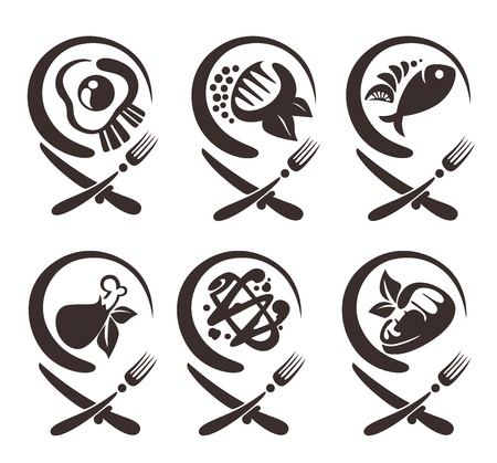 vector collection of food symbols Vector