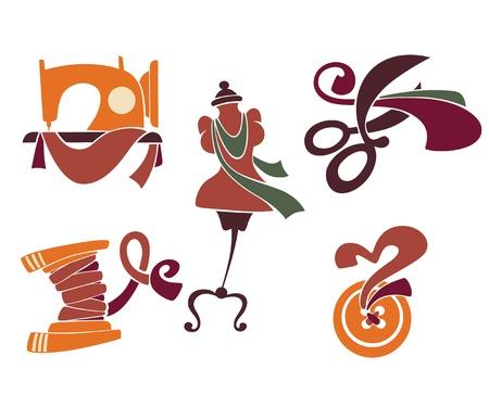 vector verzameling van symbolen en iconen Stock Illustratie