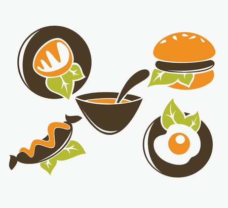 vector collection of food images Stock Vector - 21732374