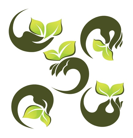 vector collection of ecological symbols and signs Stock Vector - 21732375