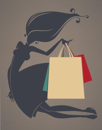 girl silhouette Stock Vector - 21989579