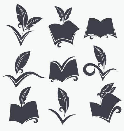 educational emblems and icons Illustration