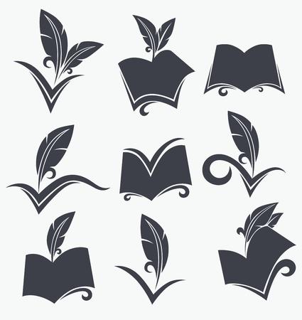 Emblemas educativos e iconos Foto de archivo - 21989581