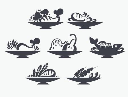 sardines: food symbols and signs