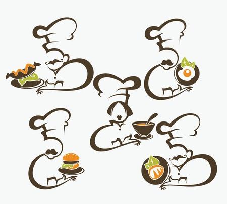 eating habits: vector food symbold
