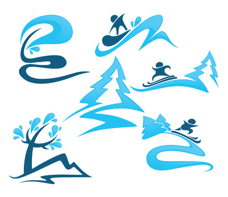 active life: vector collection winter symbols