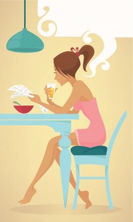 morning breakfast: vector cartoon illustration