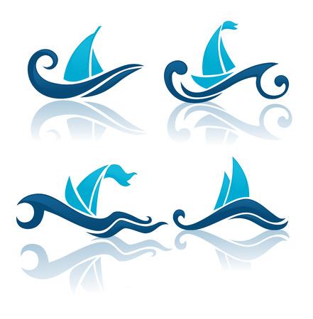 regatta: sport and nature symbols